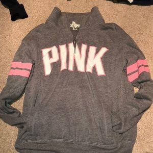 PINK Victoria secret sweatshirt quarter zip